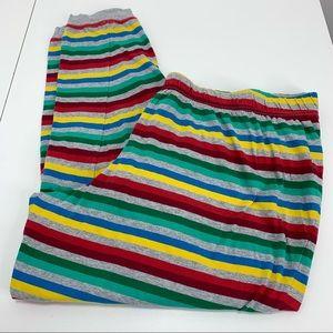 Disney Rainbow Striped Pants XXL